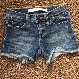 Girls size 4 Joe's Jean shorts